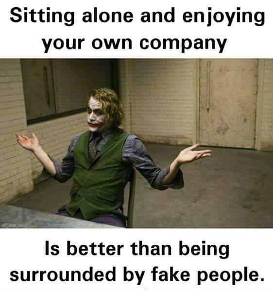Sitting alone Fake people Meme