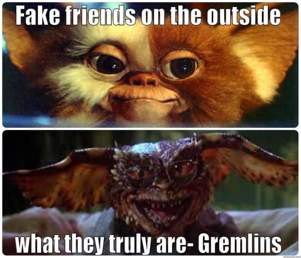 fake friends on the outside meme