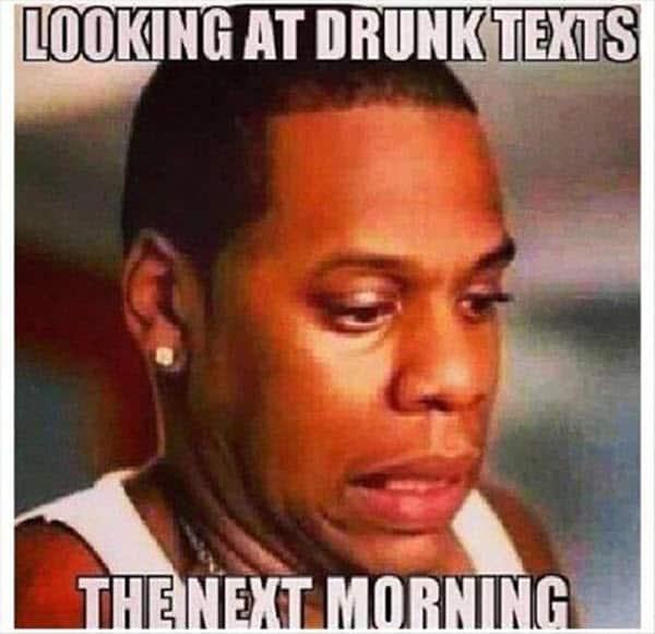 funny drunk texts memes