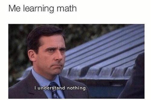 funny learning math memes