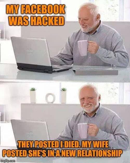 hide the pain harold facebook hacked meme