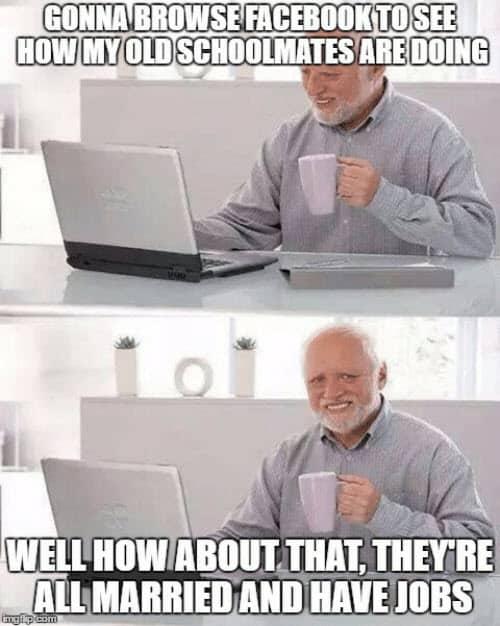 hide the pain harold facebook meme