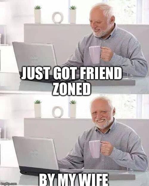 hide the pain harold friend zoned meme