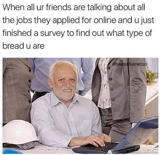 hide the pain harold survey meme