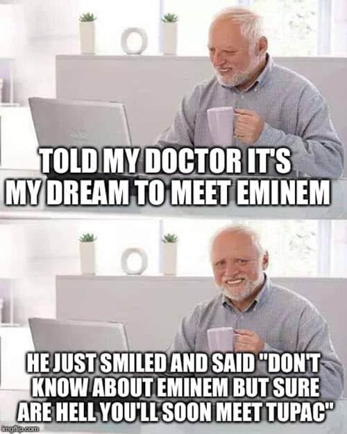 hide the pain harold tupac meme