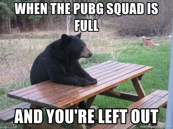 lonely pubg meme