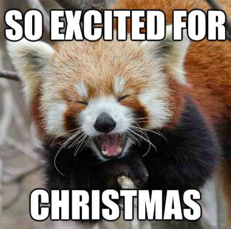 so excited merry christmas memes