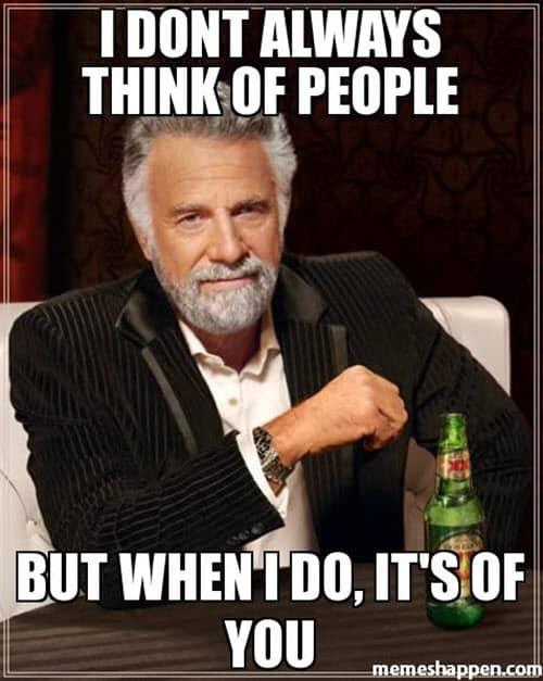 Thinking Of You Funny Meme : thinking, funny, Really, Sweet, Thinking, Memes, SayingImages.com