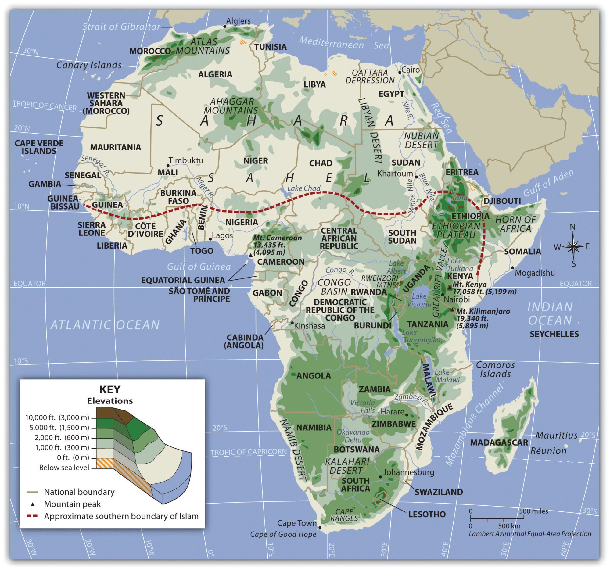hight resolution of Subsaharan Africa