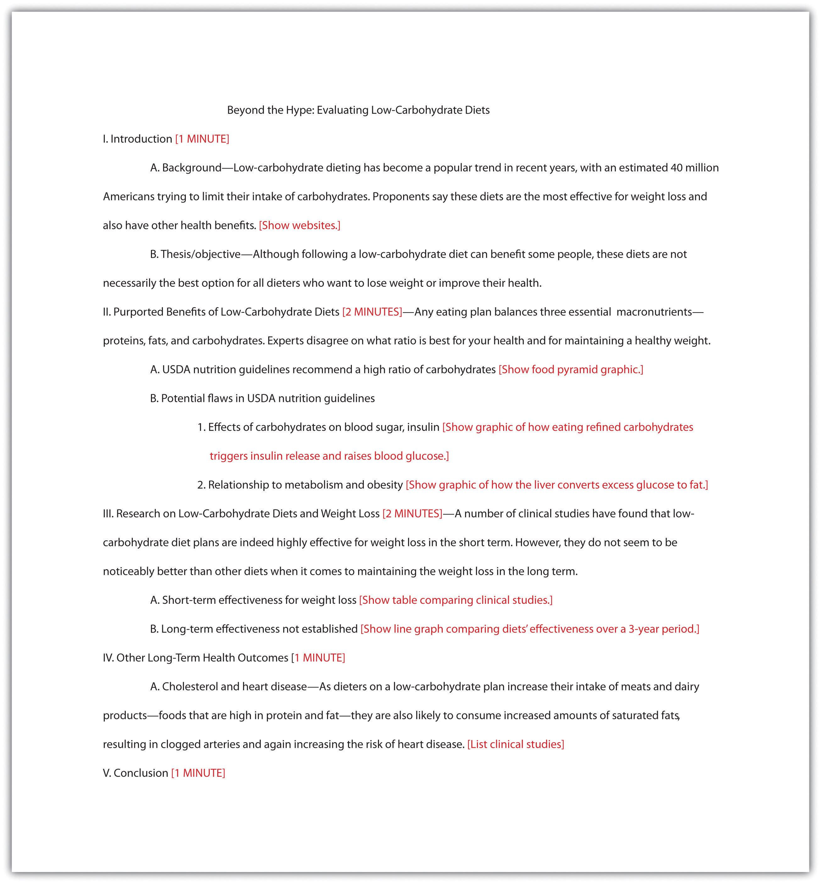 Organizing A Visual Presentation