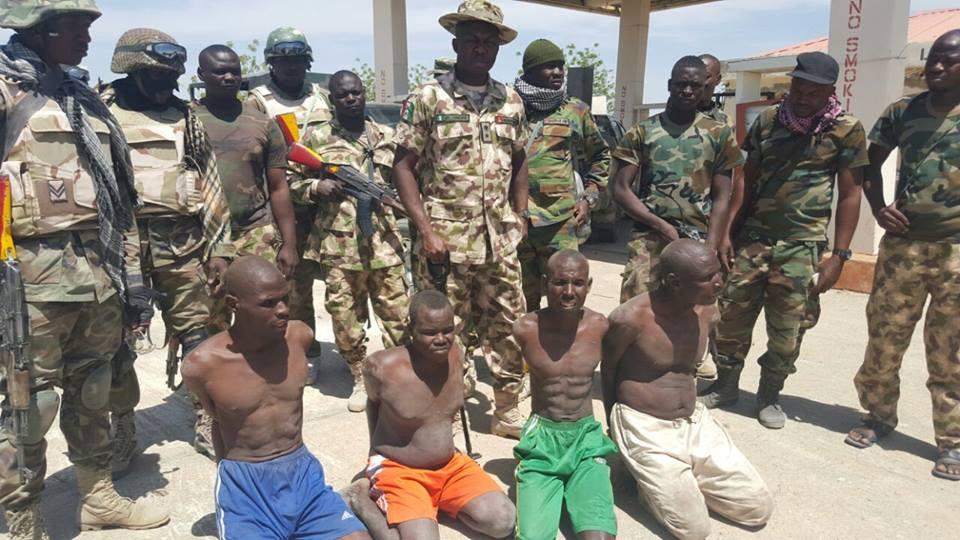 TROOPS ARREST FOUR BOKO HARAM TERRORISTS KINGPINS
