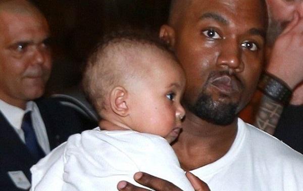 Kanye and Kim Kardashian's Son, Saint Makes First Public Appearance