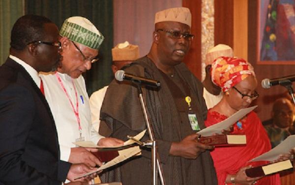 Buhari Swears in Economic Adviser, 4 Others During FEC Meeting