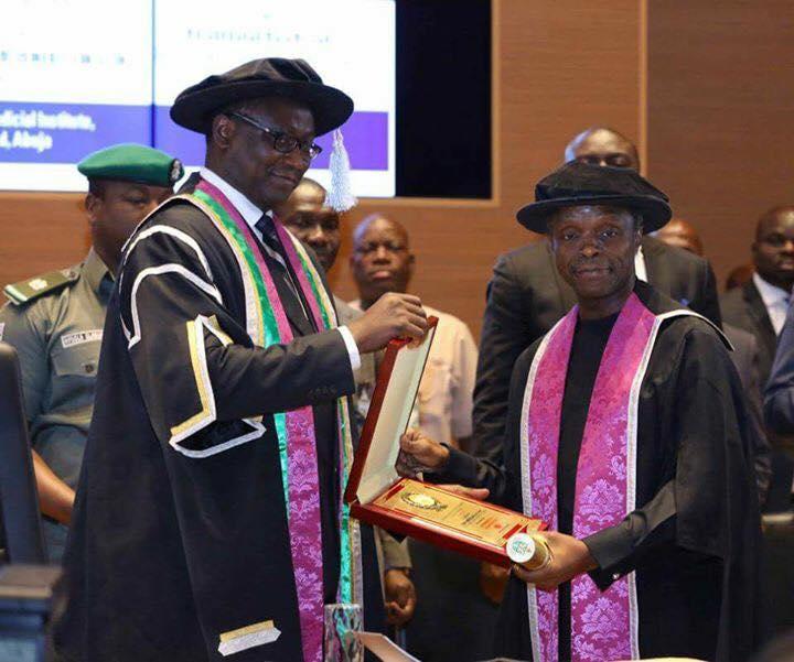 Vice President Osinbajo Conferred Honourary Fellowship Award