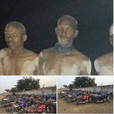 Nigerian Army Arrests Fleeing Boko Haram Terrorists With 100 Motor Bikes