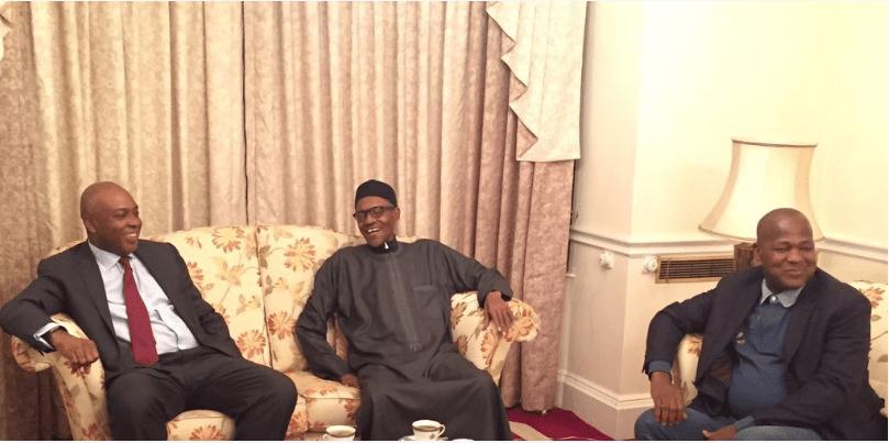 Senator Saraki, Dogara Visit President Buhari in UK