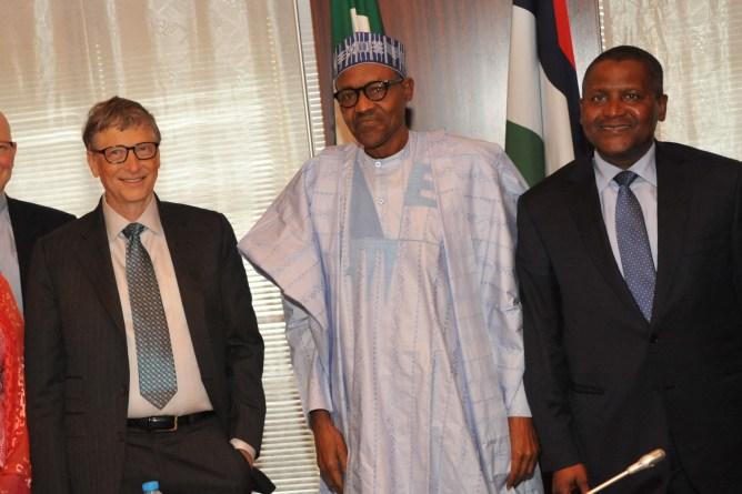 President Buhari Felicitates With Aliko Dangote At 60