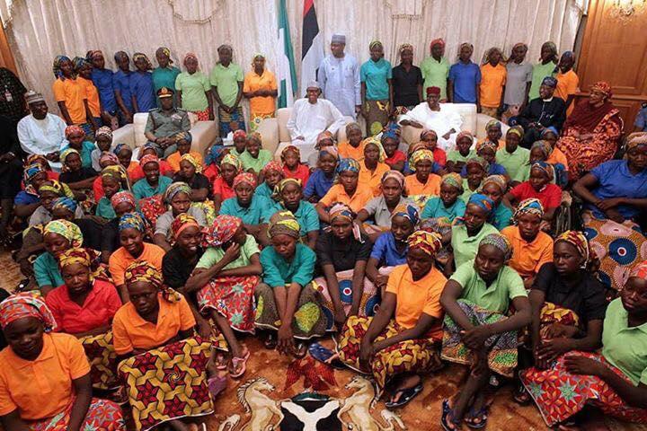 President Buhari's Remark On The Release Of 82 Chibok Girls