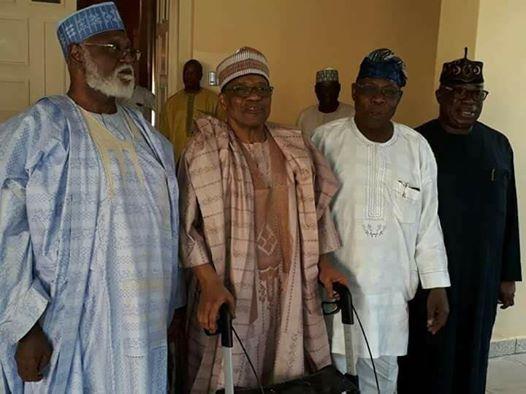Olusegun Obasanjo, Ibrahim Babangida and Abdulsalami Abubakar Meets in Minna