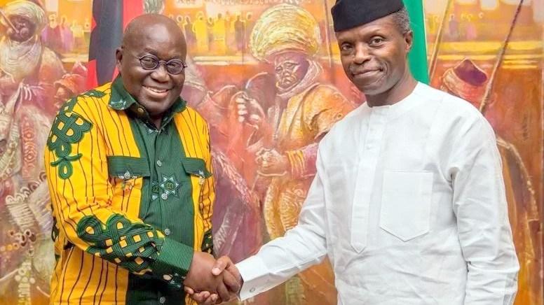 Acting President Osinbajo Hosts Ghanaian President Nana Akufo-Addo