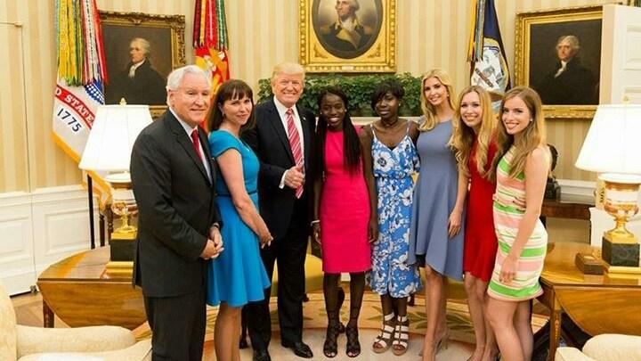 President Donald Trump Hosts Chibok Girls
