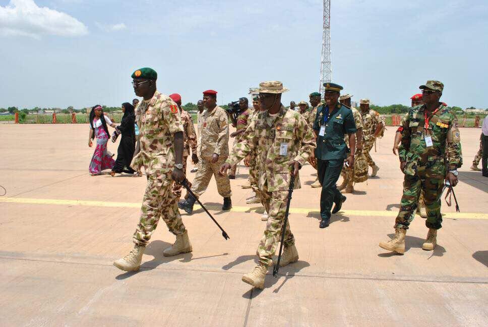 The Chief Of Army Staff Lt. Gen TY Buratai, Visits N'Djamena Chad