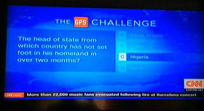 CNN Mocks Nigeria Over Buhari's Prolonged Absence