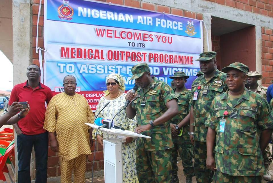 Nigerian Air Force Begins Medical Assistance Programme To Makurdi Flood Victims