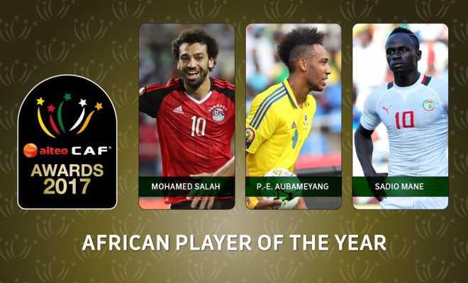 Aubameyang, Salah and Mane Make 2017 African Player of the Year top 3