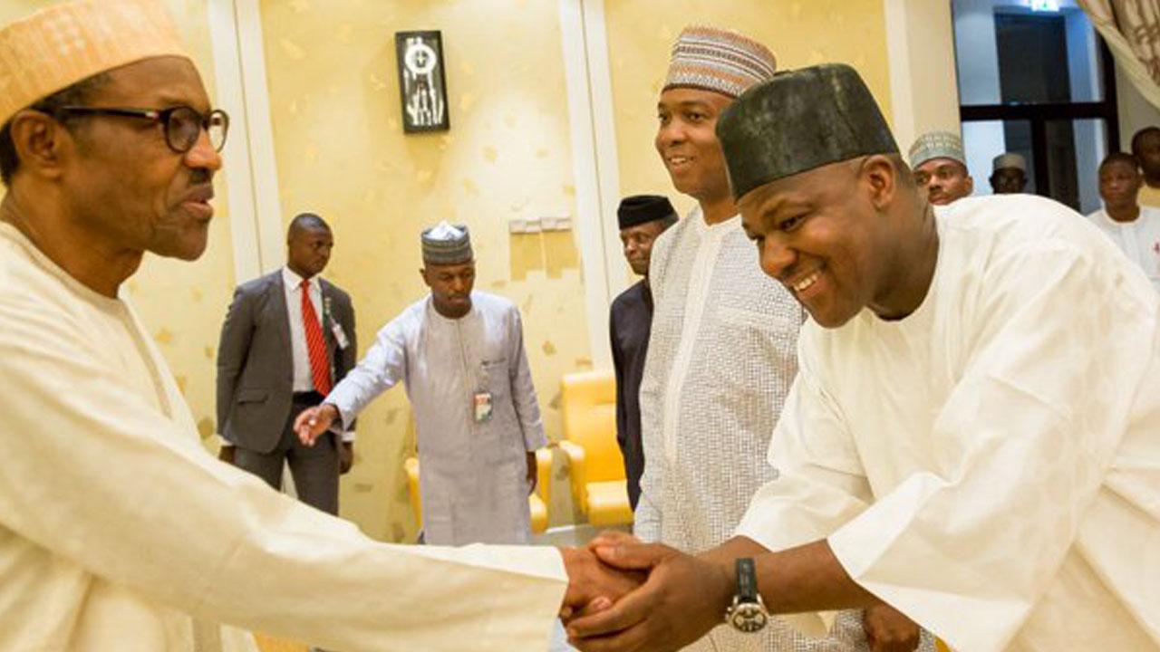 President Buhari Felicitates With Speaker Yakubu Dogara @50