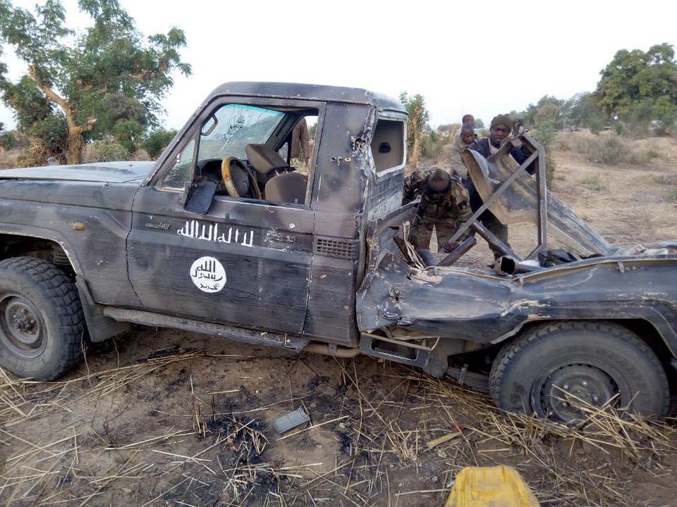 Nigerian Air Force Destroys Boko Haram Terrorists Vehicles In Lake Chad Region