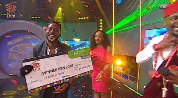 #BBNaija: Miracle Wins the 2018 Big Brother Naija Show