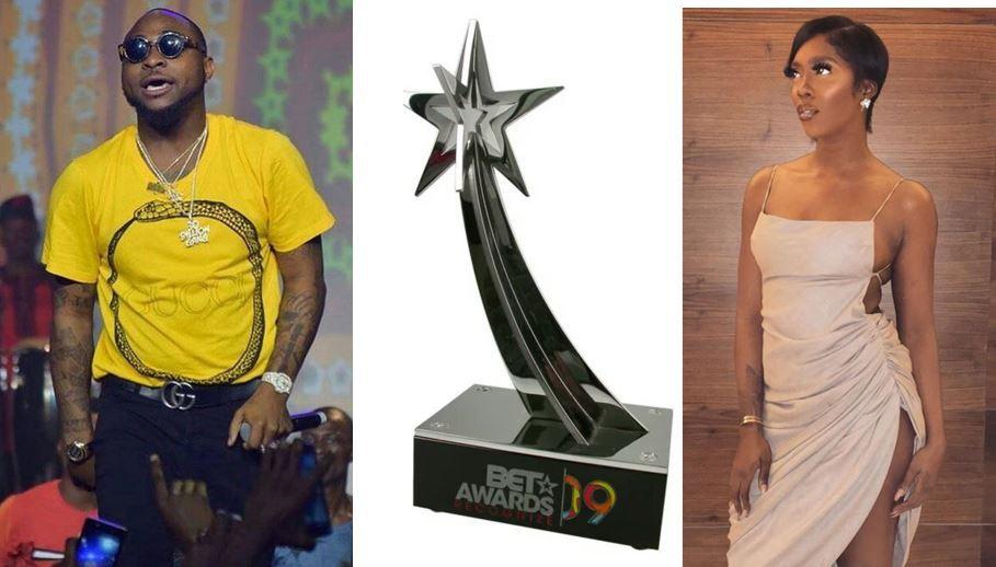 Tiwa Savage, Davido Make BET 2018 Award List: Full List Of Nominees