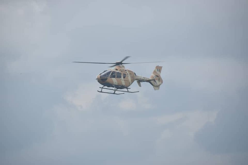 VIDEO: Nigerian Air Force Helicopter Gunship Destroys Terrorists Trucks In Night Raid In Borno State