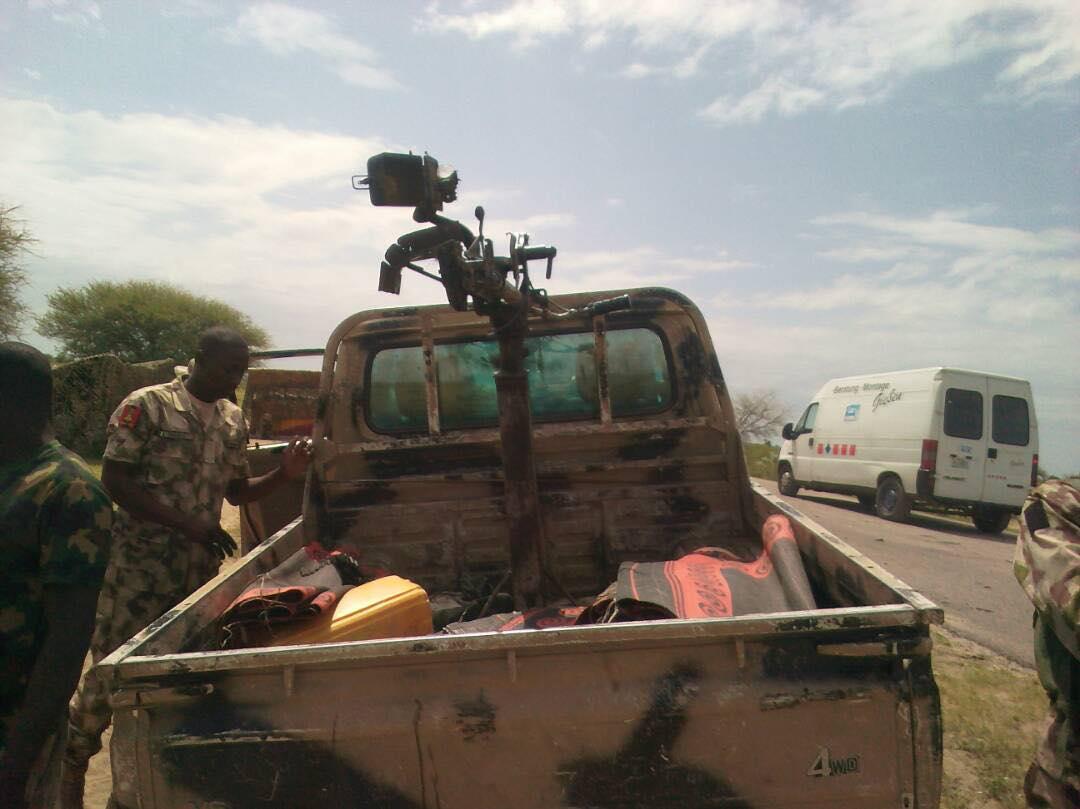 Nigerian Army Neutralise 16 Boko Haram Insurgents, Recover Gun Trucks, Cache Of Ammunition