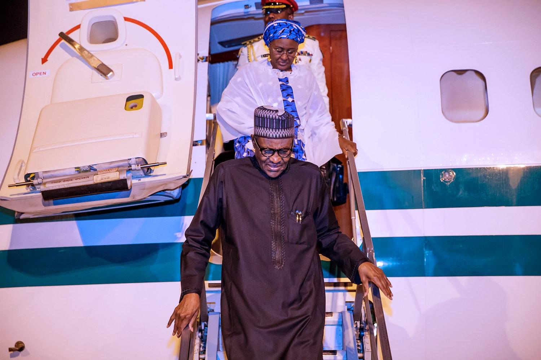 President Buhari Returns From UNGA