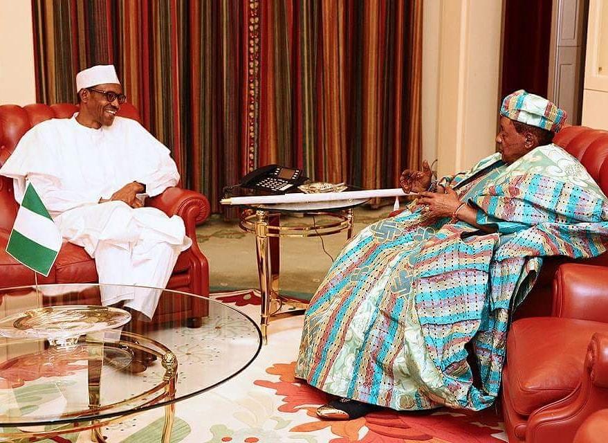 President Buhari Salute Alafin of Oyo Lamidi