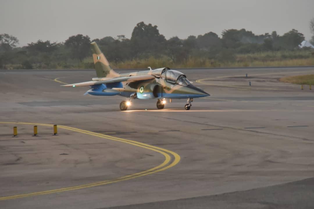 VIDEO: Nigerian Air Force Aircraft Neutralize Terrorists At Their Hideout Near Baga