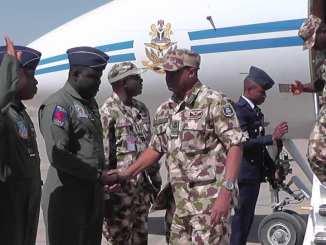 Photos: Chief Of Air Staff On Operational Visit To Operation Diran Mikiya In Katsina State