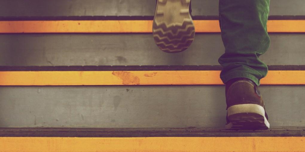 walk up stairs