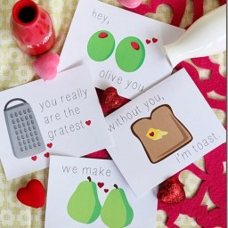 Free Funny Foodie Valentine Printables by The Crafty Cupboard