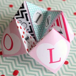 Free Valentines Cootie Catchers by lil' luna