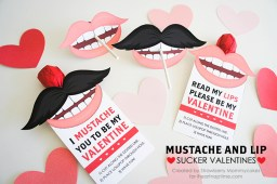 Mustache and Lip Sucker Valentines by i heart naptime