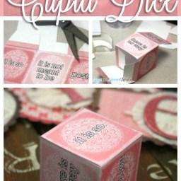 Printable Cupid Dice Game by Saynotsweetanne