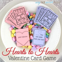 Printable Hearts to Hearts Card Game by saynotsweetanne