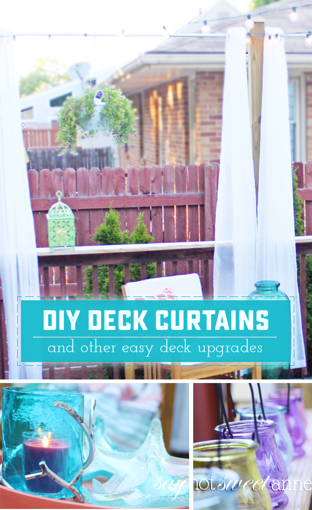 diy deck curtains and makeover sweet