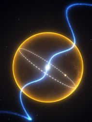 The pulsar and its planet Credit: Swinburne Astronomy