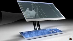 See-through screen concept by HP