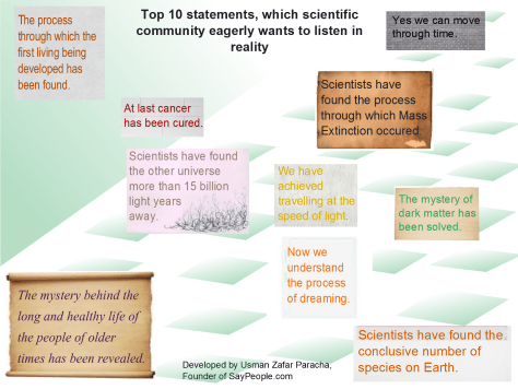 Top 10 statements scientific community wants to listen