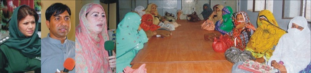 Naeema Manzoor, Prinicpal Govt. College for women, Bhakkar and others are talking during dengue awareness seminar